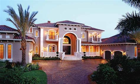 Luxury Home Plans With Photos | large mediterranean house plans mediterranean style home