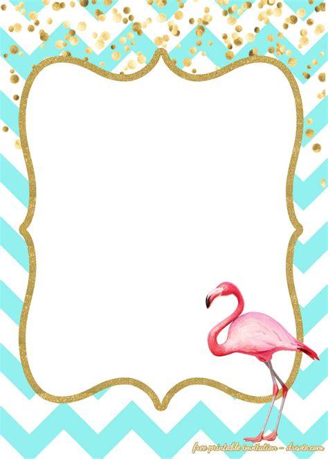 birthday invitations flamingo style