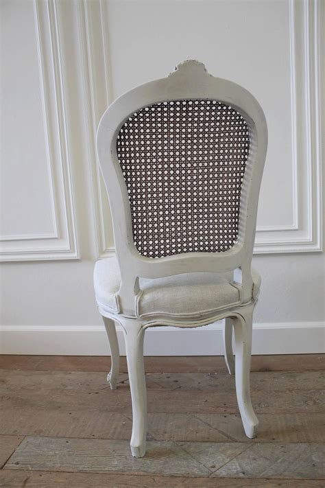 cane back dining room chairs set of eight vintage french painted cane back dining