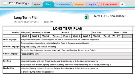 yearly plan template for teachers microsoft onenote planning part ii unleash