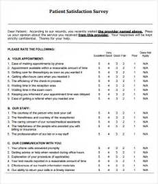 sample patient satisfaction survey 9 documents in pdf word
