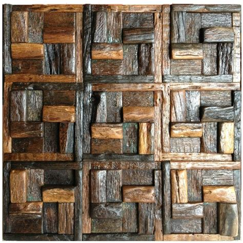 Wholesale Backsplash Tile Kitchen natural wood mosaic tile rustic wood wall tiles nwmt008