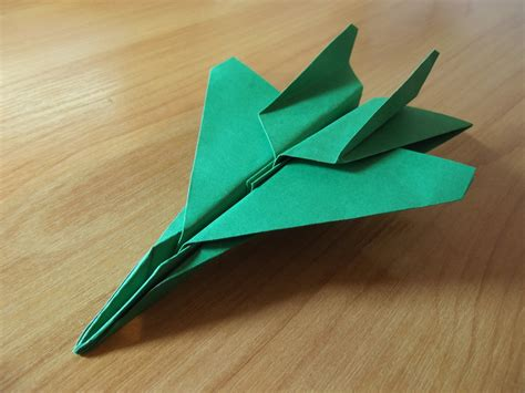 Origami Paper Plane Fighter - how to make an f15 eagle jet fighter paper plane