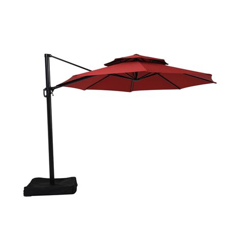 Shop Garden Treasures Red Offset Patio Umbrella Common 10 Patio Umbrella
