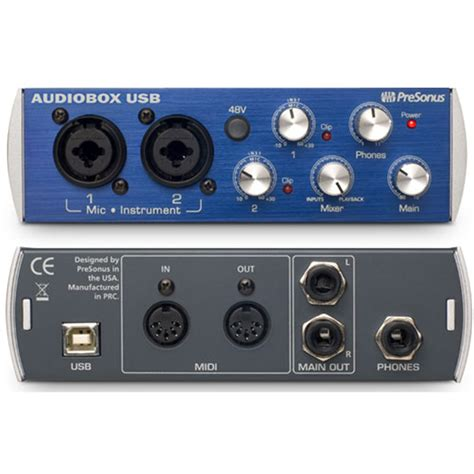 Audiobox Usb presonus audiobox usb 2x2 audio interface pssl