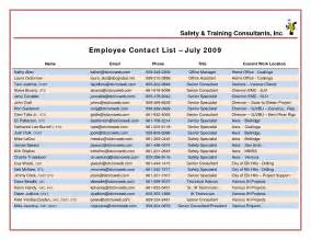 Staff Phone List Template Best Photos Of Staff Phone List Template Employee