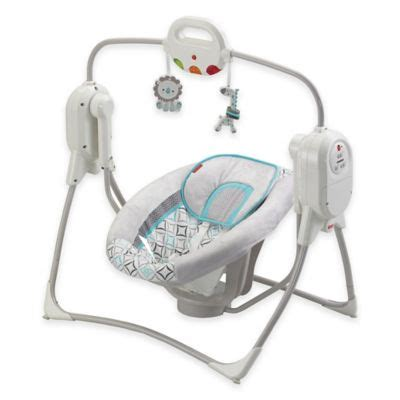 fisher price space saver cradle swing power plus buy fisher price 174 spacesaver cradle n swing in white from