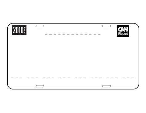 blank license plate template printable images