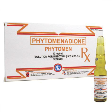 Phytomenadione 10mg Ml 30 S Vitamin K phytomen aglobal care inc