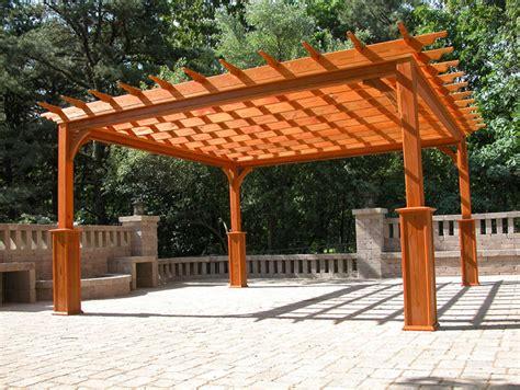 wood deck with pergola s decks and pergolas s decks