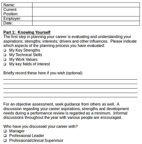 sle career plan 9 documents in pdf word