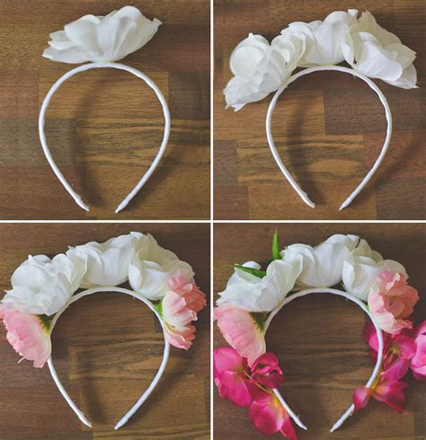 How To Make A Flower Crown Out Of Paper - diy flower crown