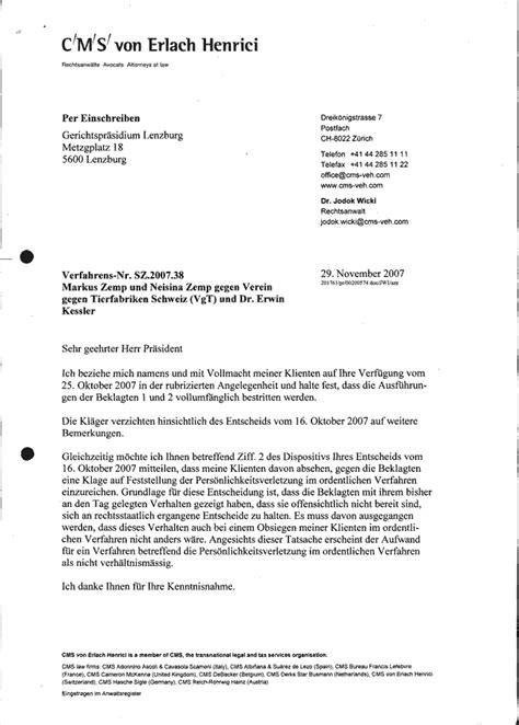 Formeller Brief Schweiz Vorlage Zensur Kaninchenhaltung Nationalrat Markus Zemp