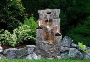garten steinbrunnen gartenbrunnen springbrunnen brunnen mit 2 214 llen led