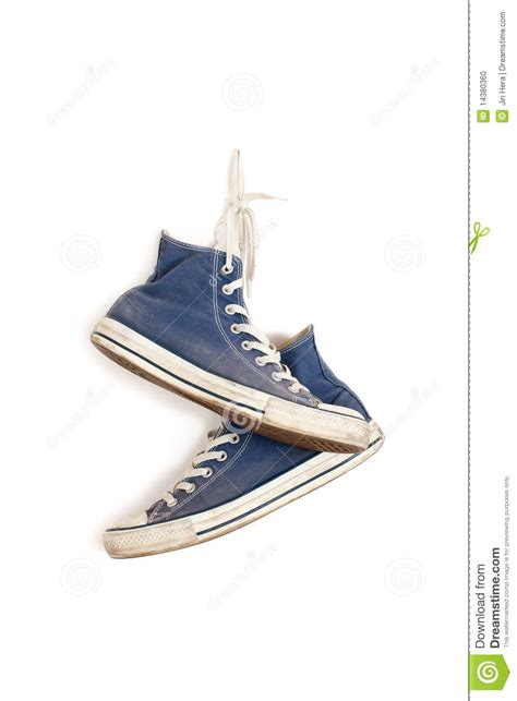 wall running shoes sneakers hanging on the wall stock photo image 14380360