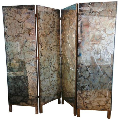 mirror room divider screen 1950s four panel verre 201 glomis 233 mirror screen room