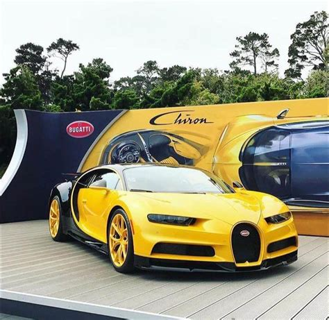 yellow bugatti chiron monday 61 hispotion