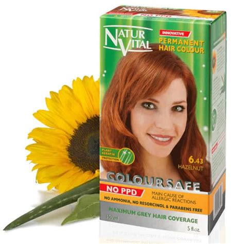ppd free hair color ppd free hair dye naturvital coloursafe hazelnut no 6 43