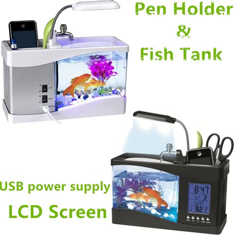 fish tank desk organizer fish tank desk organizer portable usb desktop fish