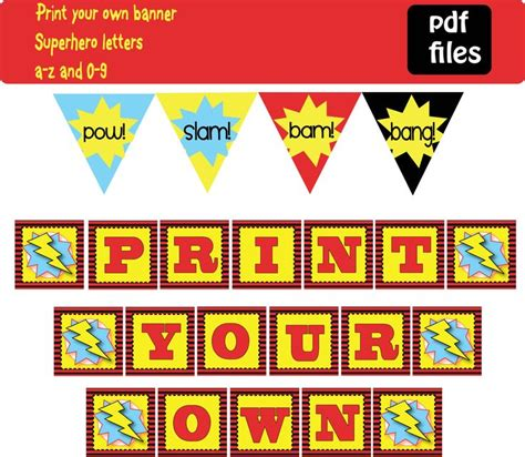 printable alphabet banner for classroom 7 best images about superman partytjie on pinterest