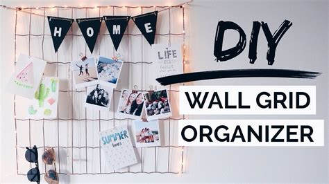 Decorating Ideas For The Bathroom diy wall grid organizer urban outfitters inspired room