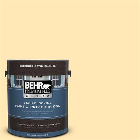 behr premium plus ultra 1 gal p260 3 vanilla satin enamel exterior paint 985001