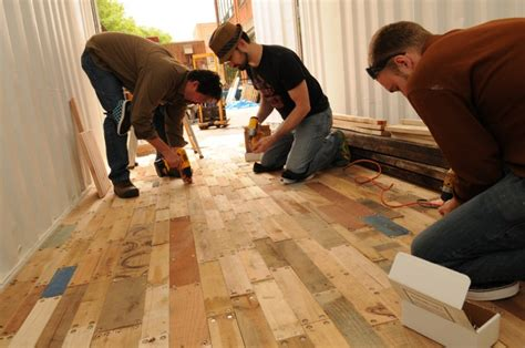 recycling pallets to make wooden floors container uk