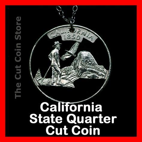 california 25 162 ca state quarter cut coin necklace yosemite valley muir half some ebay