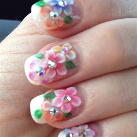 Flower Nail by 3d Flower Nail Designs Pretty Designs