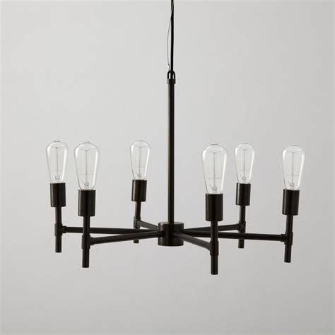 industrial chandeliers industrial chandelier industrial chandeliers by west elm
