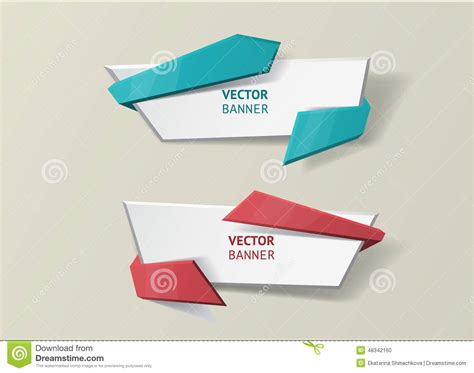 design visualization dreamzone vector infographic origami banners set stock vector