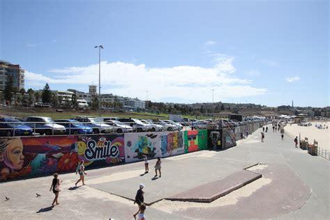 Contemporary Wall Murals bondi beach sea wall waverley council