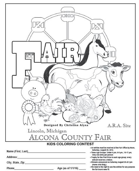 county fair coloring pages coloring pages