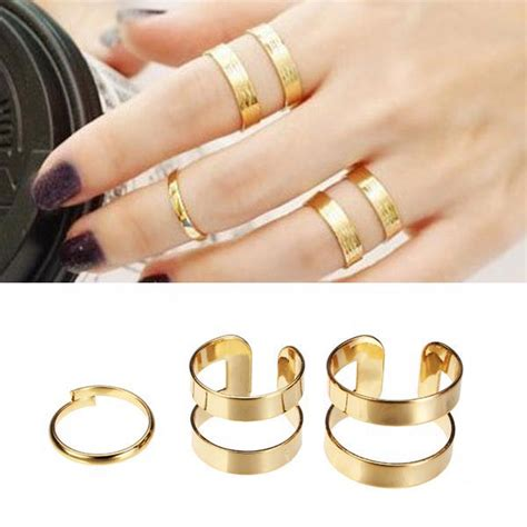 New Colour Silverstone Hollow Ring Set 3pcs 3pcs silver gold hollow opening knuckle finger ring masters sun alex nld