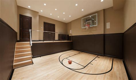 basement basketball court indoor basketball courts homes of the rich