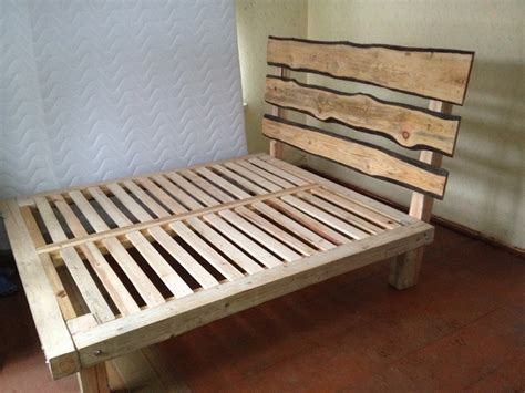 Simple Bed Frames Creative Simple Wood Bed Frame Designs Idea Personal Creation Rustic Accents Bakc Board