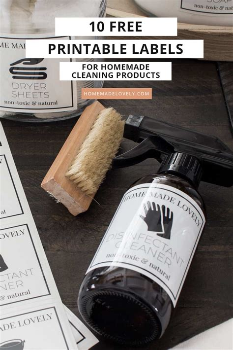 printable labels  homemade cleaning products