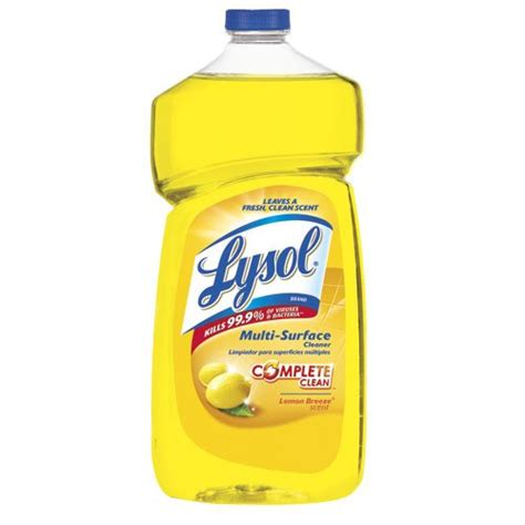 reckitt benckiser lysol lemon scent  purpose cleaner     homelectricalcom