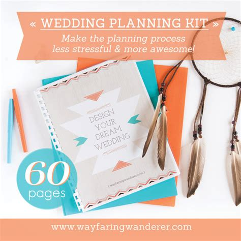 printable wedding planning kit 60 page wedding planner printable wedding planning kit
