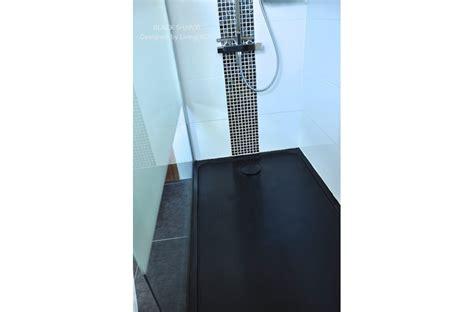 bac 100x80 receveur de en mercurion shadow granit noir luxe 100x80