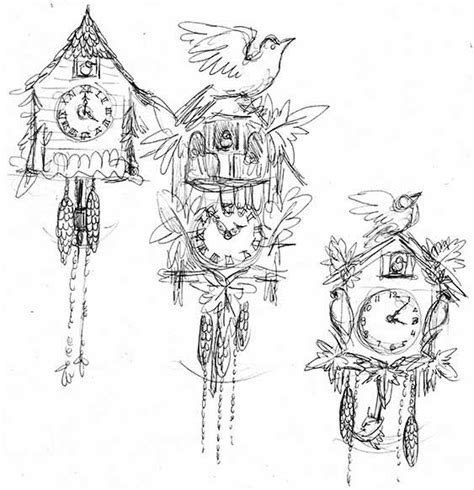 cuckoo clock drawings coloring pages cuckoo clock www