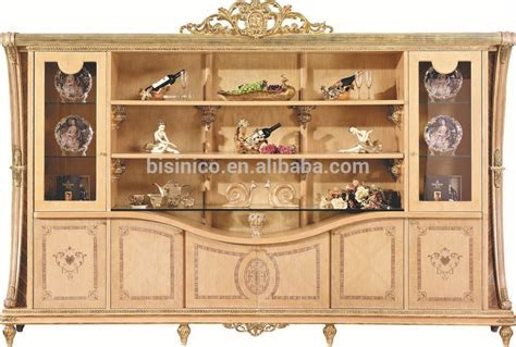 luxurious wooden carving showcase cabinet using clear luxury baroque style living room sofa set european royal