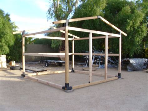 Wooden Shed Frame