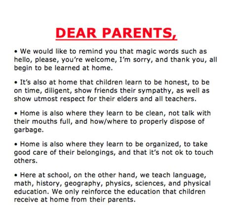 thank you letter to parents from child care provider school s friendly reminder notice goes viral on social