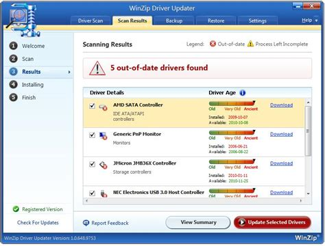 winzip driver updater full version winzip driver updater 1 0 full screenshot