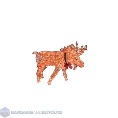 prelit outdoor christmas moose animated yard art 350795 ebay