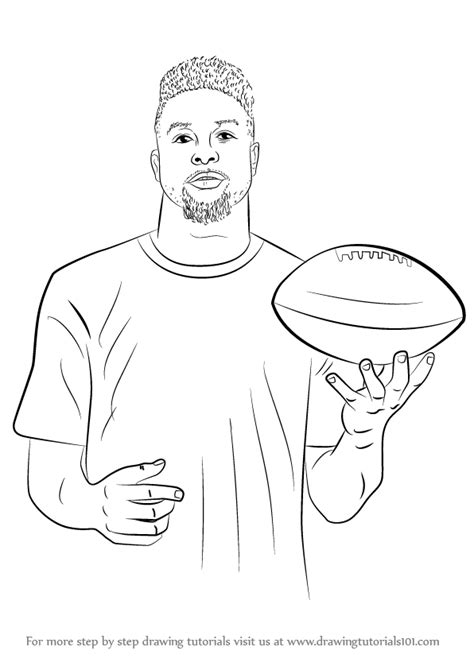 drawing page learn how to draw odell beckham jr footballers step by