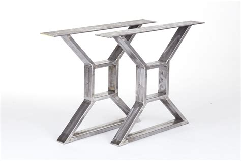 custom made table legs crafted industrial steel x table legs by the