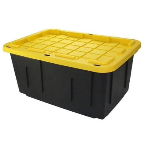 hdx 27 gal storage tote in black hdx27gonline 5 the