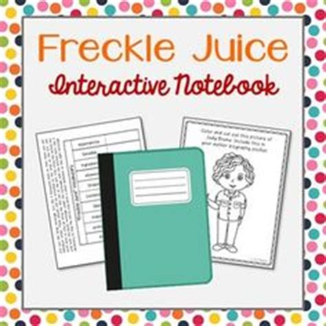 freckle juice book report activities novels and notebooks on